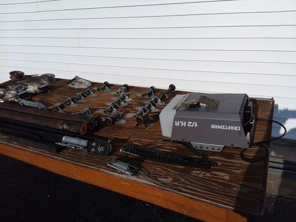 Garage opener and all parts for double garage door