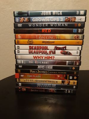 Movies for sale $3 each for Sale in Cedar Hill, TX