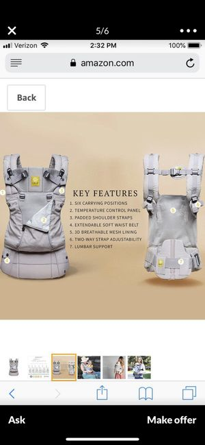Lille baby carrier for Sale in Moreno Valley, CA