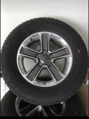 "North Edition Sahara Wrangler JEEP 18"" Wheels, A/T (All Terrain) Bridgestone Dueler 255/70R18 tires. for Sale in Huntley, IL"