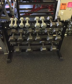 Dumbbell Set with Rack New in the box for Sale in Phoenix, AZ
