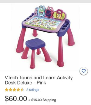 VTECH New Touch and Learn Activity Desk Deluxe for Sale in Norwalk, CA