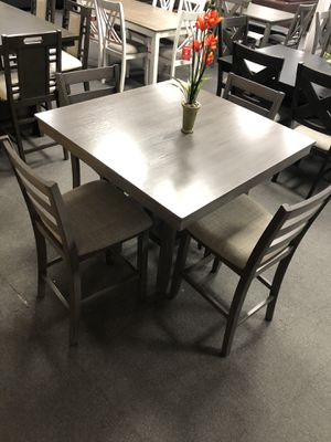 5PC Gray Dining Table Set for Sale in Fresno, CA