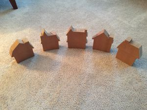 Set of five wooden house cut outs for Sale in Alexandria, VA