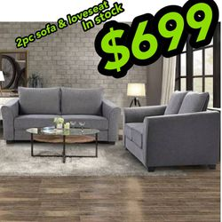 Sofa and loveseat $699 Or Just $29 A Week No Credit Needed Have Today for Sale in North Smithfield,  RI