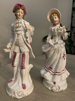 Vintage Figurines Victorian pair for Sale in Portland, OR