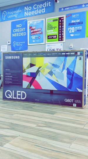 Samsung 65 inches - QLED - Q80T Series - 2160p - Smart - 4K UHD TV with HDR - Brand New in Box - Retails for $1799+ Tax! One Year Warranty! for Sale in Arlington, TX