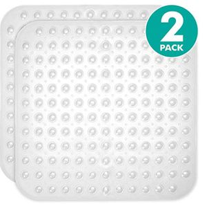 2-Pack Clear Color Square Shower, Bathtub, Bath and Tub Mat (21x21), Machine Washable, Antibacterial, BPA, Latex, Phthalate Free for Sale in Plano, TX