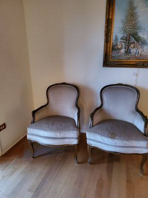 Wood trimmed chairs for Sale in Des Plaines, IL