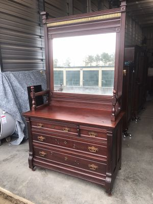 19th Century Chest with Big Mirror - Delivery Available for Sale in Holly Springs, NC