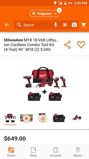 Milwaukee 5 tool set for Sale in Maryland Heights, MO