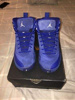 Jordan 12 blue-size 5 gs for Sale in Denver, CO