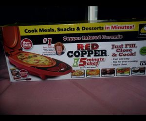 Red Copper 5 Minute Chef by BulbHead Includes Recipe Guide for Sale in Chicago, IL