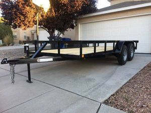 2019 flat bed utility trailer 16ft long for Sale in Santa Fe, NM