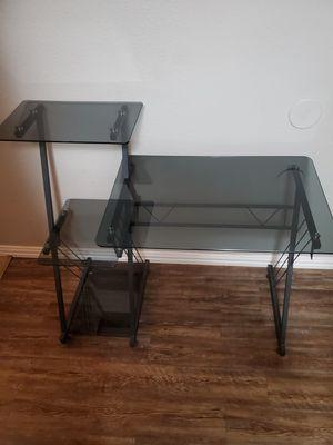 Glass computer desk $60 obo for Sale in Wichita Falls, TX