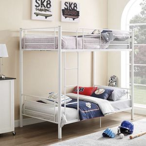 24107 Twin Metal Mesh Frame Bunk Bed White - Saracina Home for Sale in Anaheim, CA