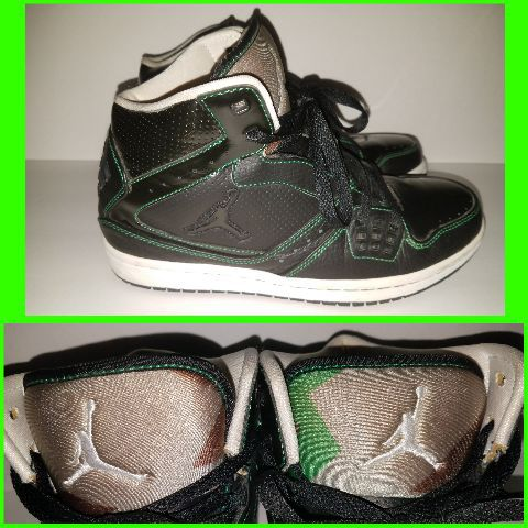 new products 533d5 b4c23 Nike Air Jordan Flight 1 Black + Camo Basketball Shoes 372704-007 Size 7.5  HTF