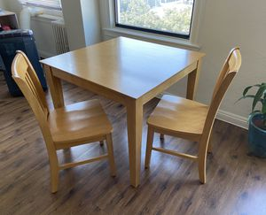 3 pc small kitchen table set - square table and 2 dinette chairs for Sale in Beverly Hills, CA