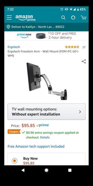 ERGOTECH FREEDOM ARM FDM-PC-S01 - MOUNTING KIT for Sale in Las Vegas, NV