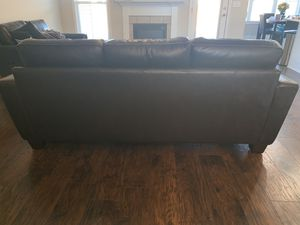 Dark Leather Sofa and Love Seat from Rooms to Go for Sale in Centerville, GA