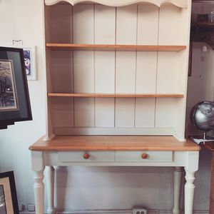 2 piece wood hutch for Sale in Frederick, MD
