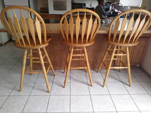 3 Oak Bar stools for Sale in Denver, CO