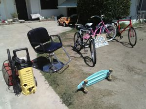 Bicycles, skateboard, barber chair, for Sale in Visalia, CA