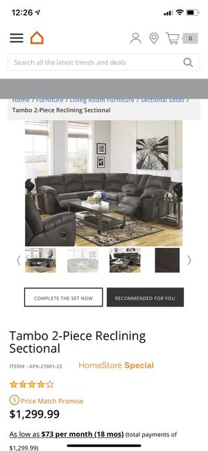 Ashley Sectional Couch for Sale in Long Beach, CA