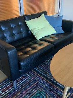 IKEA real Leather Black Sofa for Sale in Denver,  CO
