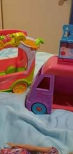 Shopkins Smoothie Van ($ 13) And Shopkins Ice Cream Truck($6) for Sale in Stockton,  CA