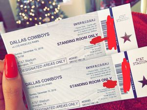 Dallas Cowboys vs Rams for this Sunday for Sale in Fort Worth, TX