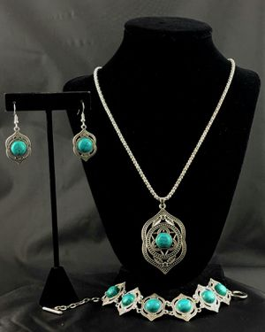 Howlite Warrior Necklace Set with Bracelet for Sale in Phoenix, AZ