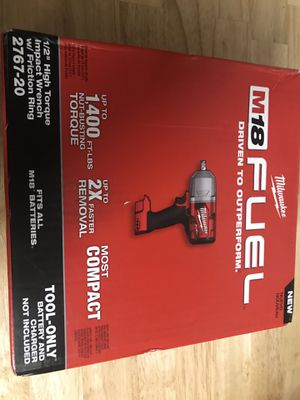 Milwaukee high torque impact wrench for Sale in Bolingbrook, IL