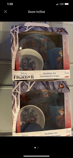2 Frozen 2 Plate, bowl and cup set for Sale in Hampton, VA