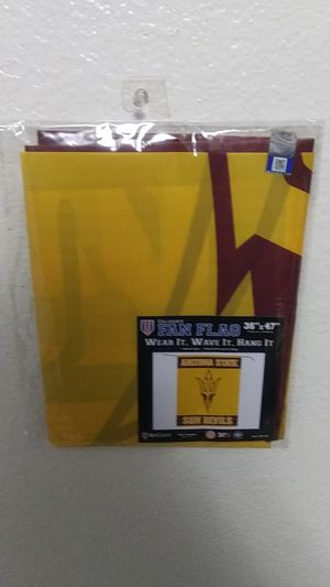 ARIZONA STATE SUN DEVILS FAN FLAG for Sale in Tempe, AZ