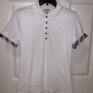White Womens Burberry Polo Shirt for Sale in Graham, NC