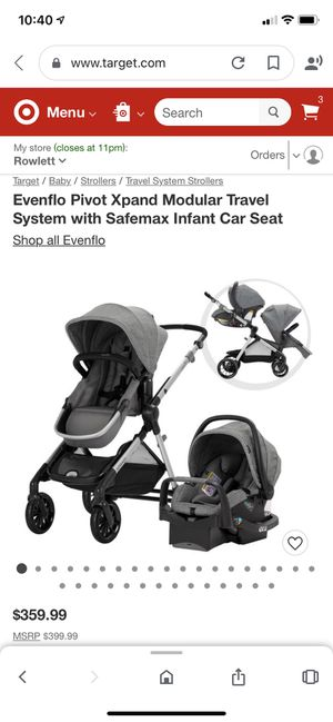 Evenflo xpand Double Stroller for Sale in Garland, TX