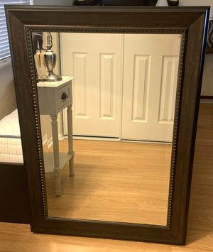 Mirror- Wall hanging (brushed maple color) for Sale in Tampa, FL