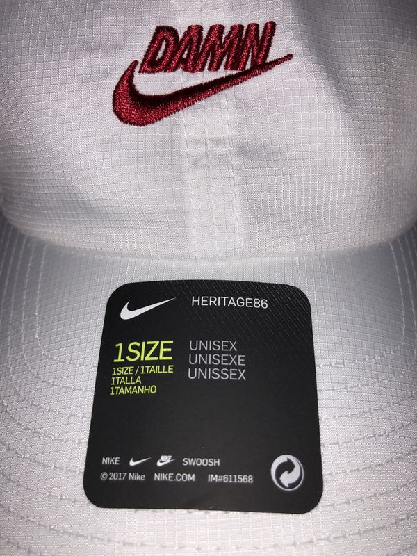b82e5d24 TDE X NIKE Kendrick Lamar white DAMN HAT for Sale in Los Angeles, CA ...