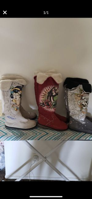 Ed Hardy boots for Sale in Fresno, CA