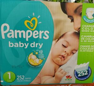 Pampers baby dry size 1 $35 no less sorry for Sale in Perris, CA