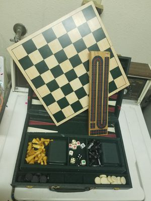 Antique wood chest game for Sale in Hemet, CA