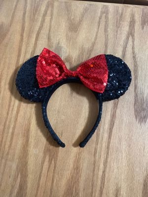 Glitter Minnie Mouse Themed Disney Ears for Sale in Hesperia, CA