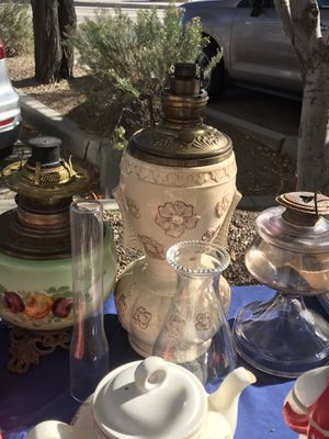 Lamp and Oil Lantern for Sale in Tucson, AZ