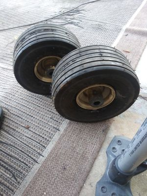 2 commercial lawmower front wheels for Sale in Lakeland, FL