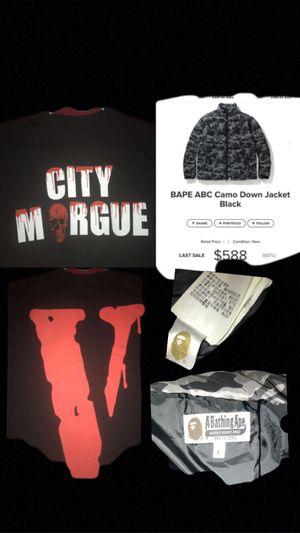 VLONE x CITY MORGUE SZ M, BAPE JACKET SZ LARGE for Sale in Kyle, TX