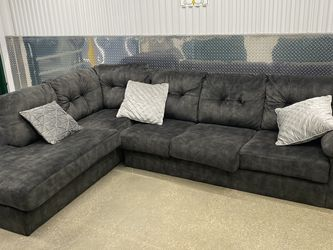 Gray Microfiber Sectional for Sale in Washington,  DC