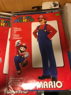 Brand new Mario Halloween costume boys size 6. for Sale in Upton, MA