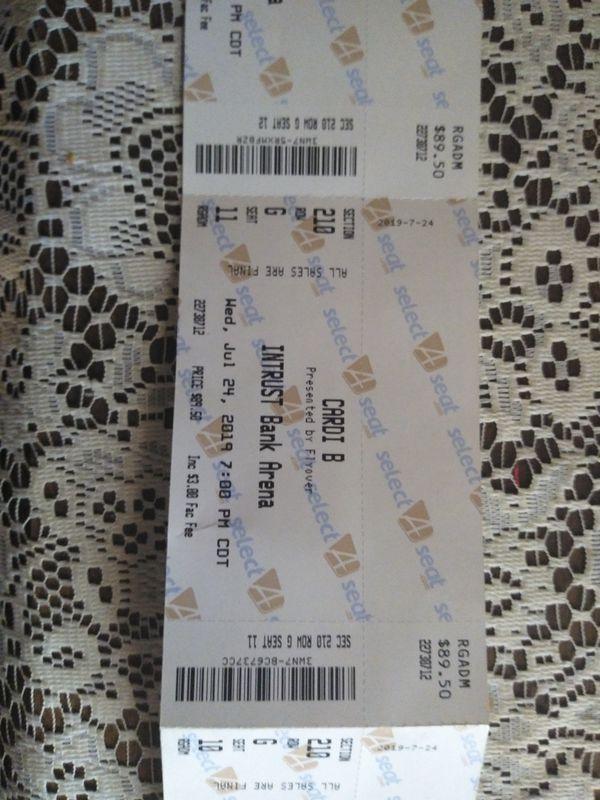 4 Cardi B, Kevin Gates tickets.