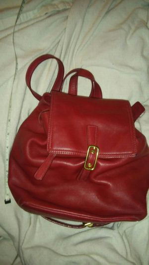 Coach red leather mini women's backpack purse for Sale in Alexandria, VA